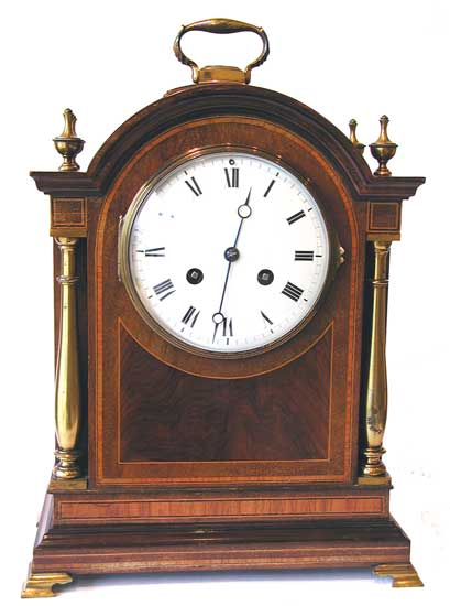 Mantel Clocks . Vic Mahogany French strike 550