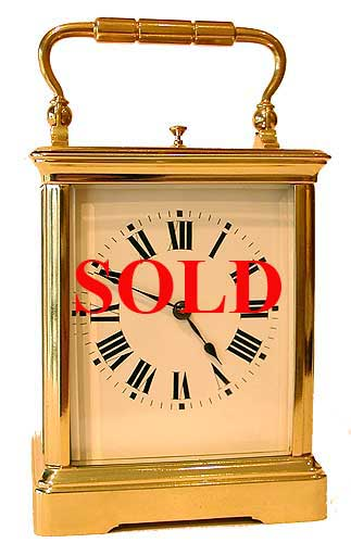 More examples of Sold items. Basic strike carriage clock SOLD
