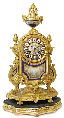 Mantel Clocks . Gilt &  porcelain475