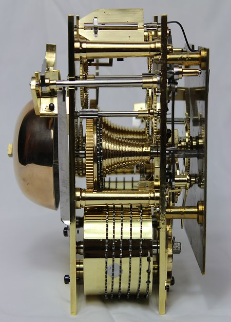 Bracket Clocks. Gowland movement side view