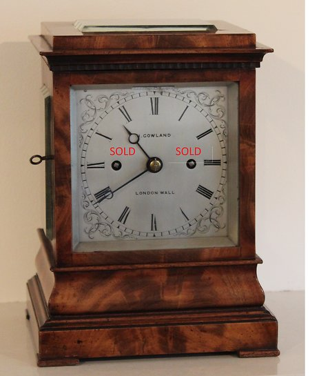 Bracket Clocks. Gowland Sold