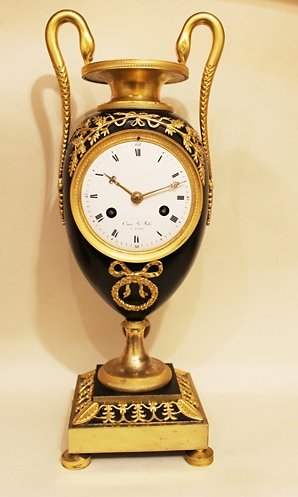 Mantel Clocks . French vase clock