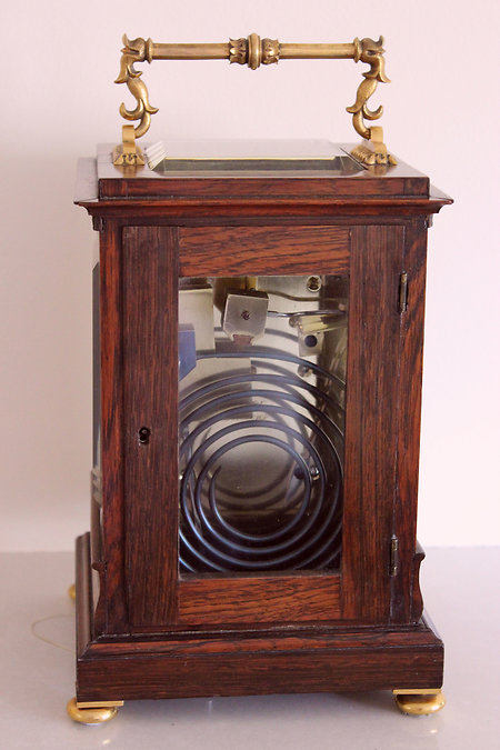 Carriage clocks & Chronometers. Viner backview